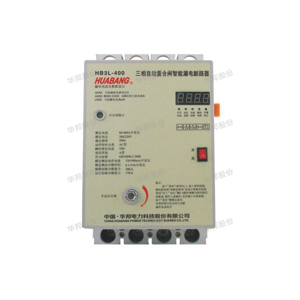 Intelligent three-phase residual current action circuit breaker auto-reclosing - LED type
